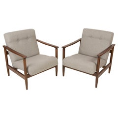 Pair of Beige Armchairs, Edmund Homa, Type GFM-142, 1960s, Poland