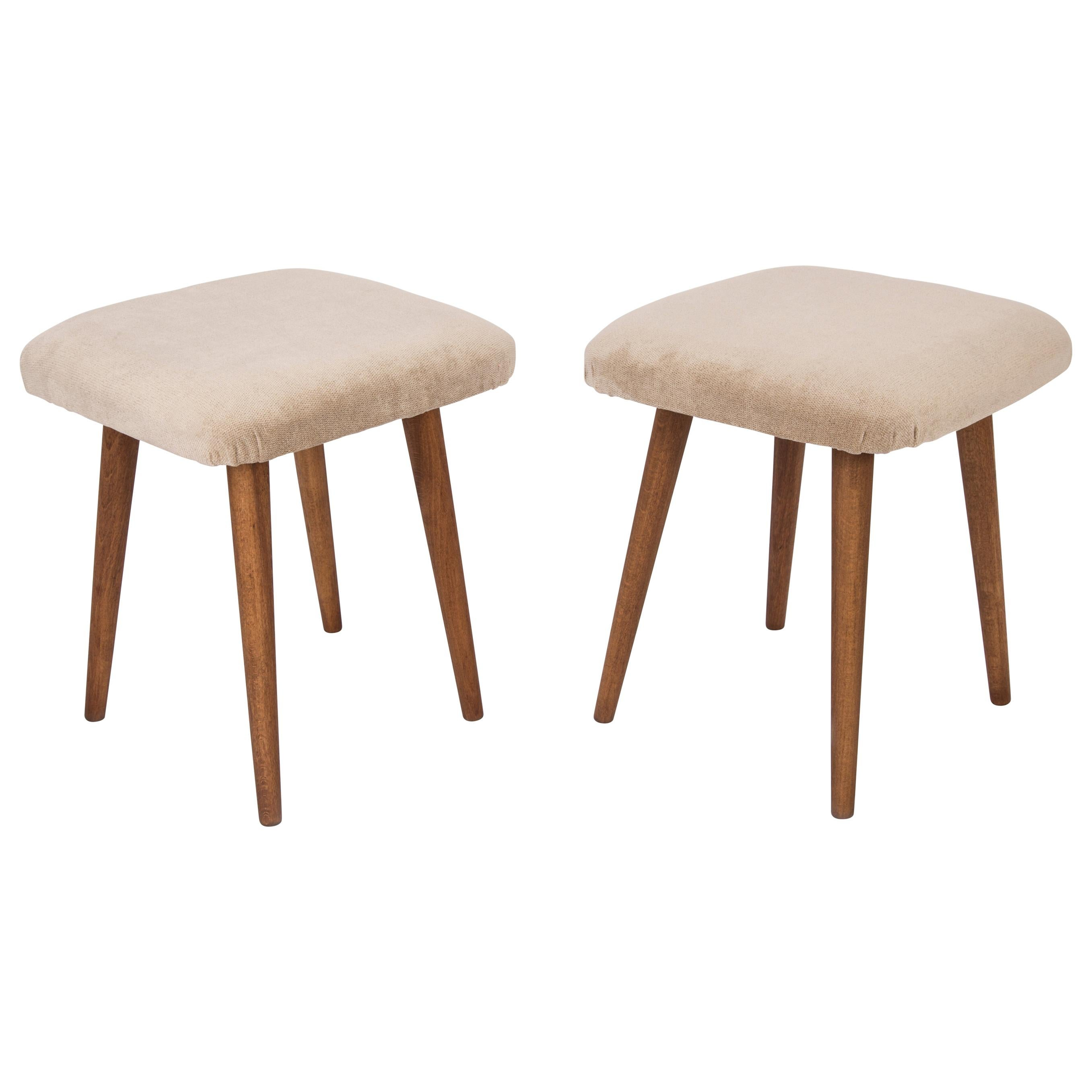 Pair of Beige Stools, 1960s