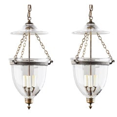 Pair of Bell Jar Lanterns, circa 1890