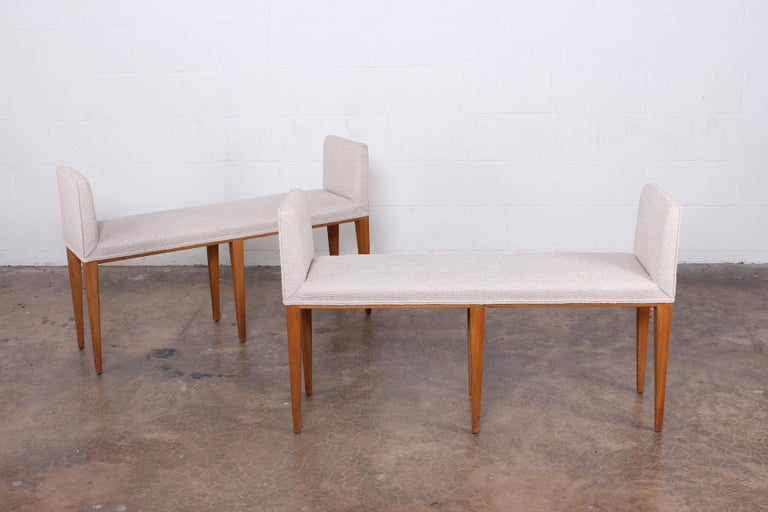 Pair of Benches by Edward Wormley for Dunbar In Good Condition For Sale In Dallas, TX