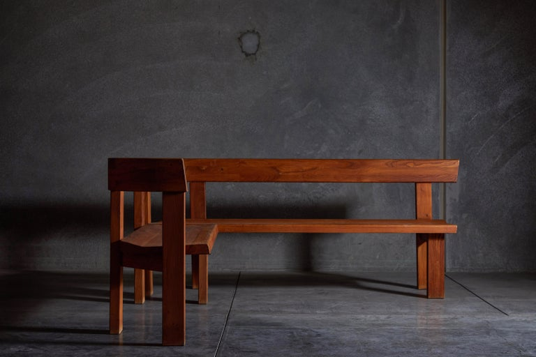 Pair of Benches by Pierre Chapo In Good Condition For Sale In Los Angeles, CA