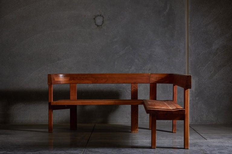 Mid-20th Century Pair of Benches by Pierre Chapo For Sale