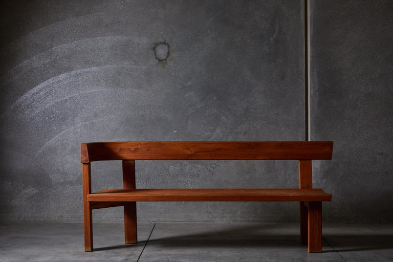 Pair of Benches by Pierre Chapo For Sale 1
