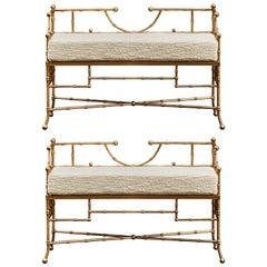 Pair of Benches by Studio Glustin