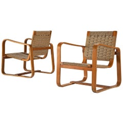 Pair of Bentwood Armchairs by Giuseppe Pagano