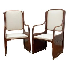 Pair of Bentwood Armchairs by Koloman Moser, Viennese Secession, circa 1900