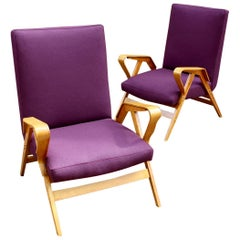 Pair of Bentwood Armchairs by Tatra Nábytok, 1950s