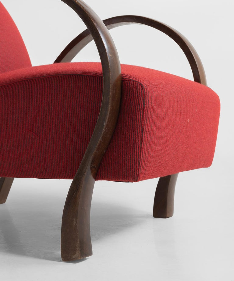 Italian Pair of Bentwood Armchairs, Italy, circa 1930 For Sale