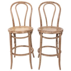 Pair of Bentwood Bar Stools