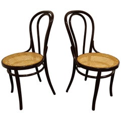 Pair of Bentwood Bistro Chairs, 1950s