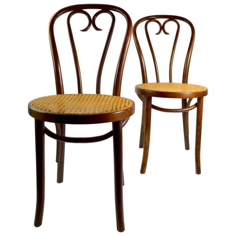 Pair Of Bentwood Cafe Chairs By Thonet For Sale At 1stdibs