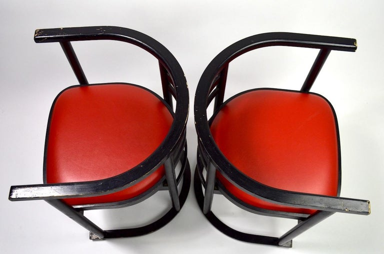 Pair of Bentwood Chairs after Hoffman for Thonet For Sale 6