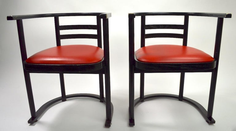European Pair of Bentwood Chairs after Hoffman for Thonet For Sale