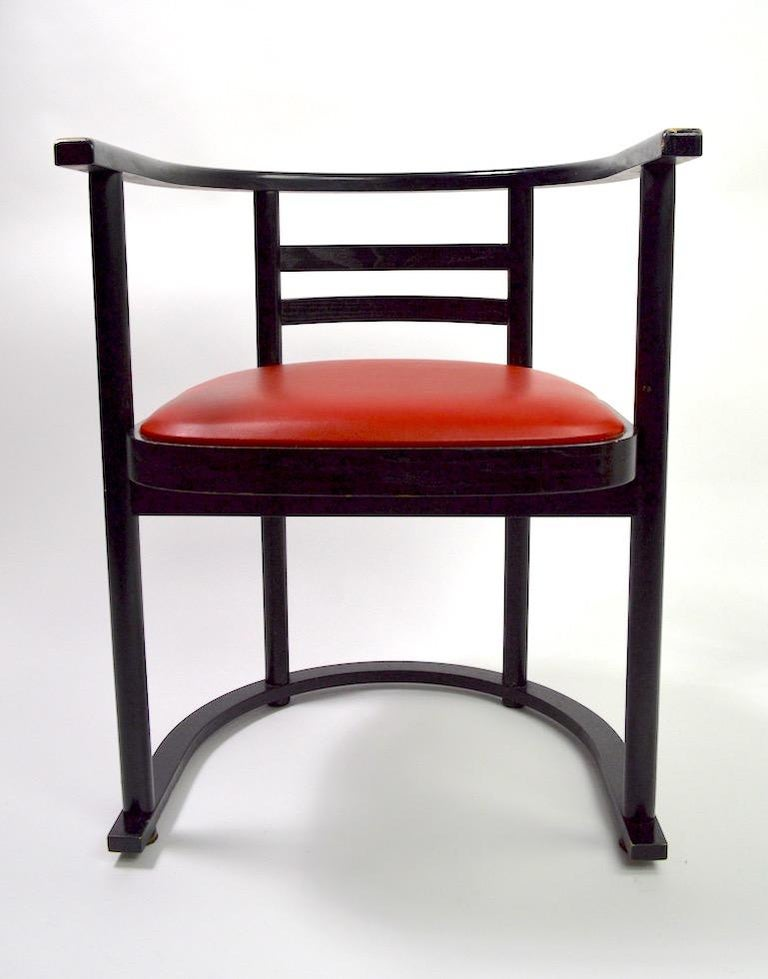 Upholstery Pair of Bentwood Chairs after Hoffman for Thonet For Sale