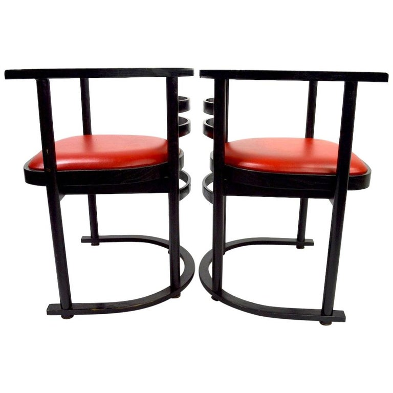 Pair of Bentwood Chairs after Hoffman for Thonet For Sale