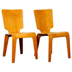 Pair of Bentwood Dining Chairs by Thaden Jordan