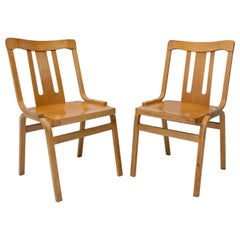 Pair of Bentwood Dining Chairs Produced by TON, Czechoslovakia, 1970s