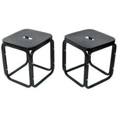 Pair of Bentwood Stools by Otto Wagner for Thonet