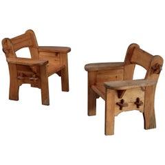 "Pair of ""Berga"" armchairs by David Rosén for NK, 1950s"