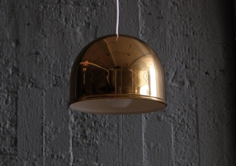 Scandinavian Modern Pair of Bergboms Ceiling Pendant in Brass, 1960s For Sale