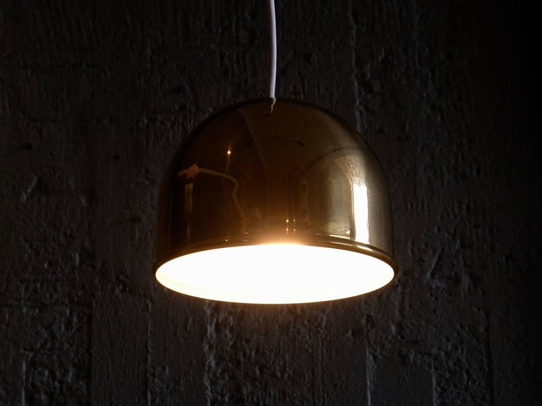 Swedish Pair of Bergboms Ceiling Pendant in Brass, 1960s