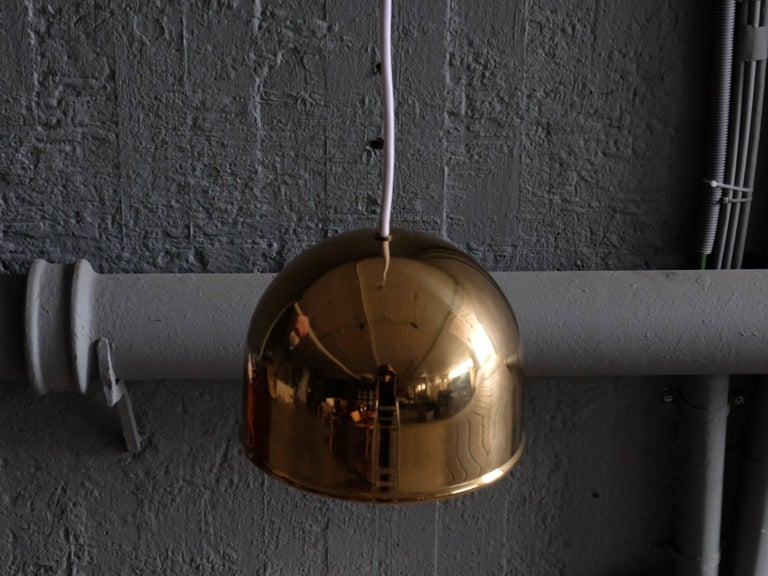 Pair of Bergboms Ceiling Pendant in Brass, 1960s In Excellent Condition In Stockholm, SE