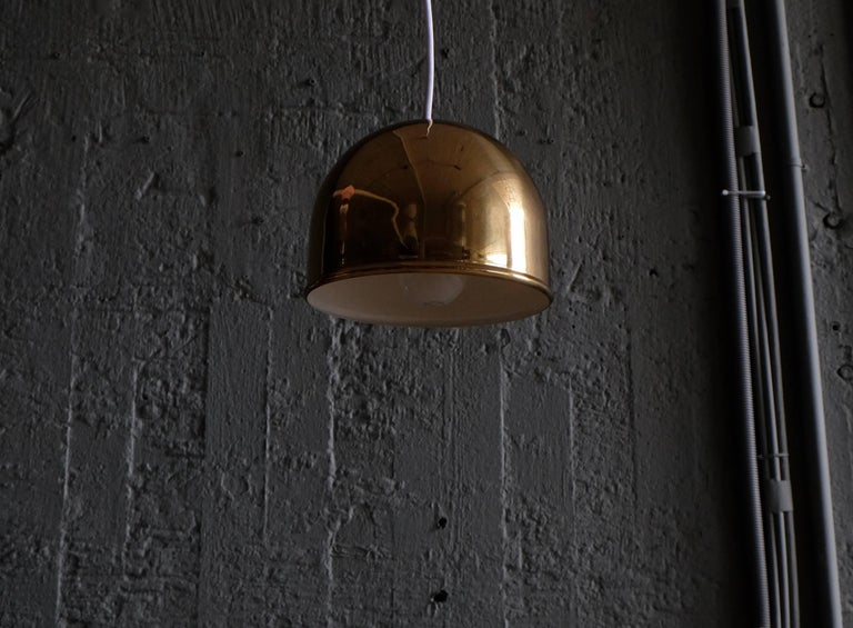 Mid-20th Century Pair of Bergboms Ceiling Pendant in Brass, 1960s