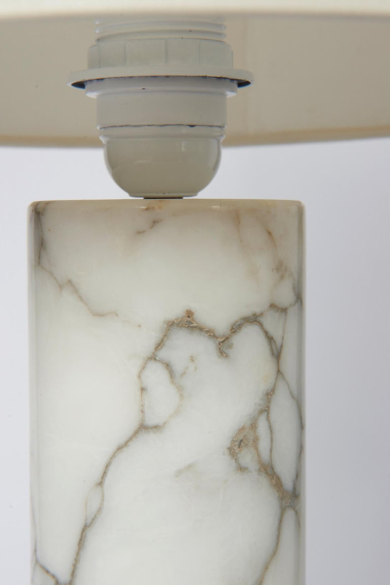 Italian Pair of Bergboms Marble Lamps For Sale