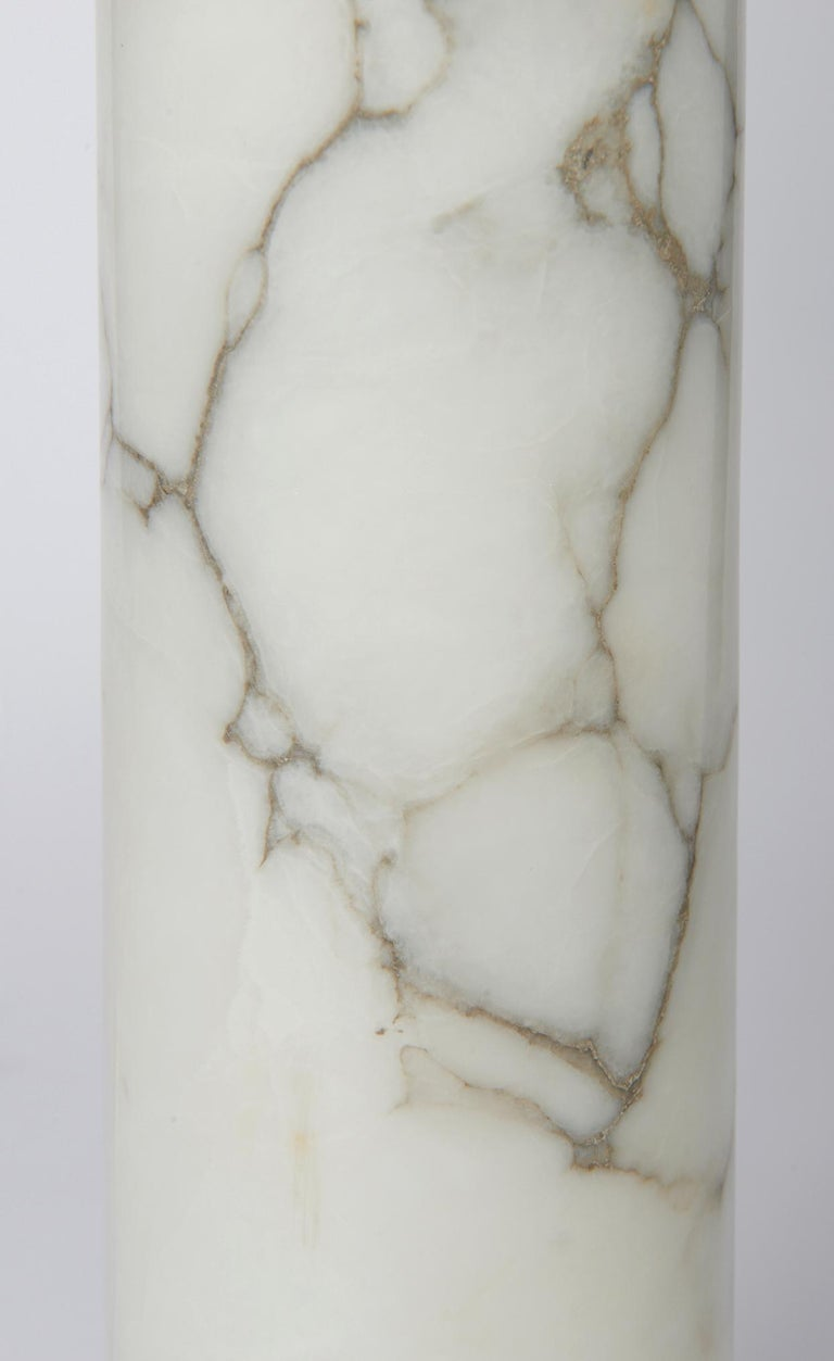 Pair of Bergboms Marble Lamps In Good Condition For Sale In Saint-Ouen, IDF