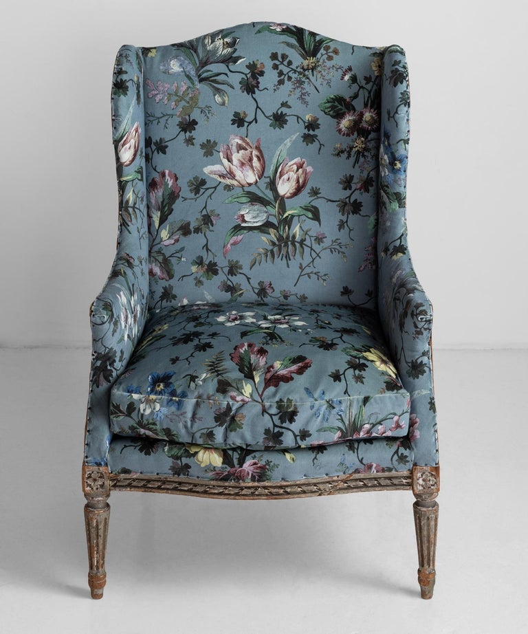 French Pair of Bergere Armchairs in Velvet from House of Hackney For Sale