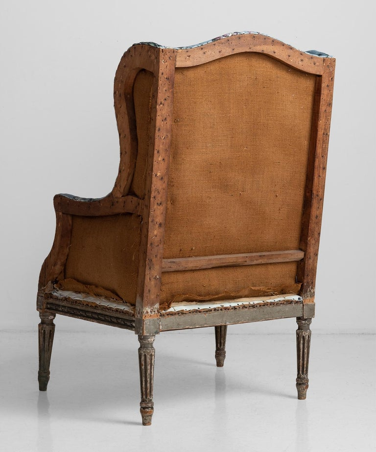 Carved Pair of Bergere Armchairs in Velvet from House of Hackney For Sale