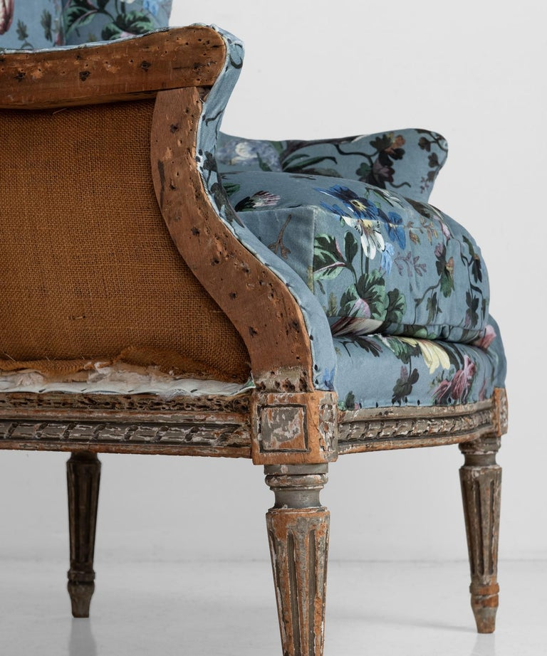 20th Century Pair of Bergere Armchairs in Velvet from House of Hackney For Sale