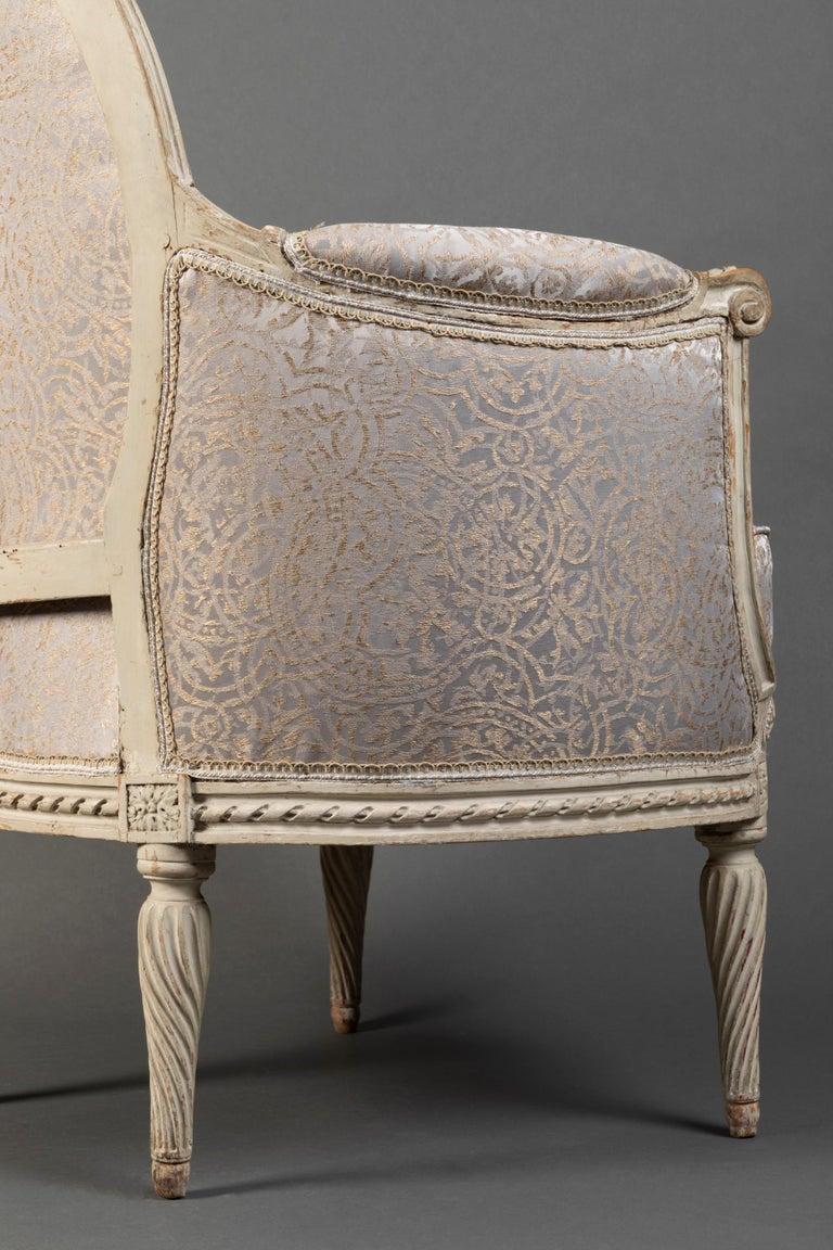 Pair of Bergère Chairs from the Louis XVI Period Stamped, Delanois, 18th Century For Sale 5