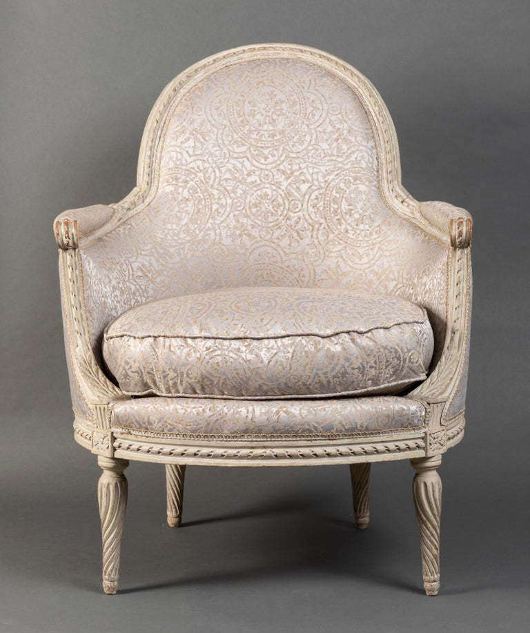Pair of Bergère Chairs from the Louis XVI Period Stamped, Delanois, 18th Century For Sale 7