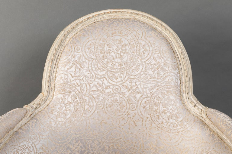 Pair of Bergère Chairs from the Louis XVI Period Stamped, Delanois, 18th Century For Sale 10