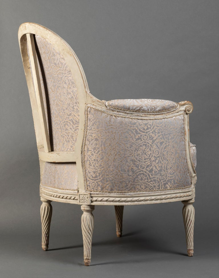 Pair of Bergère Chairs from the Louis XVI Period Stamped, Delanois, 18th Century For Sale 3