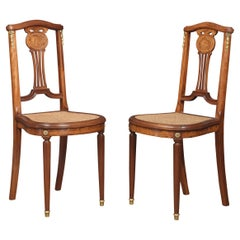 Pair of Bergere Side Chairs