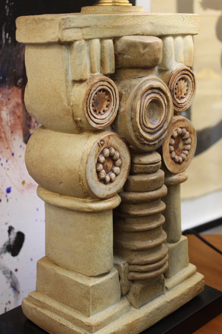 Pair of Bernard Rooke Ceramic Lamps For Sale 5
