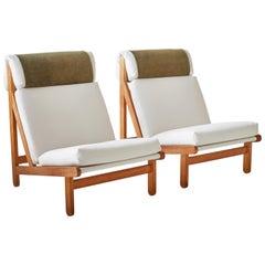 "Pair of Bernt Peterson Danish ""Rag"" Easy Lounge Chairs"