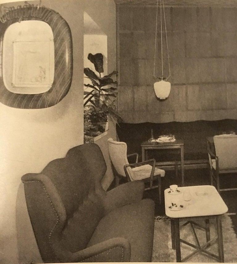 Pair of Bertil Söderberg Armchairs in Mahogany for Nordiska Kompaniet, 1940s For Sale 10