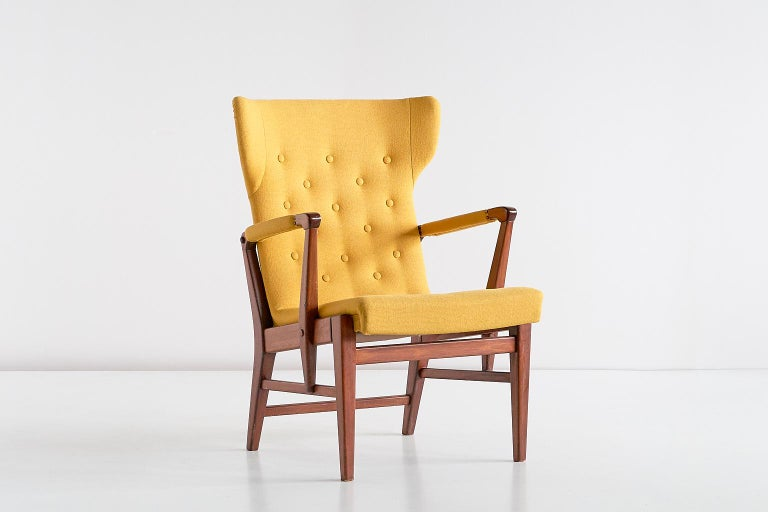 Pair of Bertil Söderberg Armchairs in Mahogany for Nordiska Kompaniet, 1940s In Good Condition For Sale In The Hague, NL