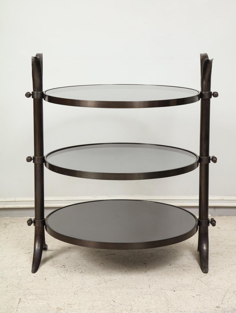 Other Pair of Bespoke Bronze Tulip Tables Designed by Amir Khamneipur For Sale