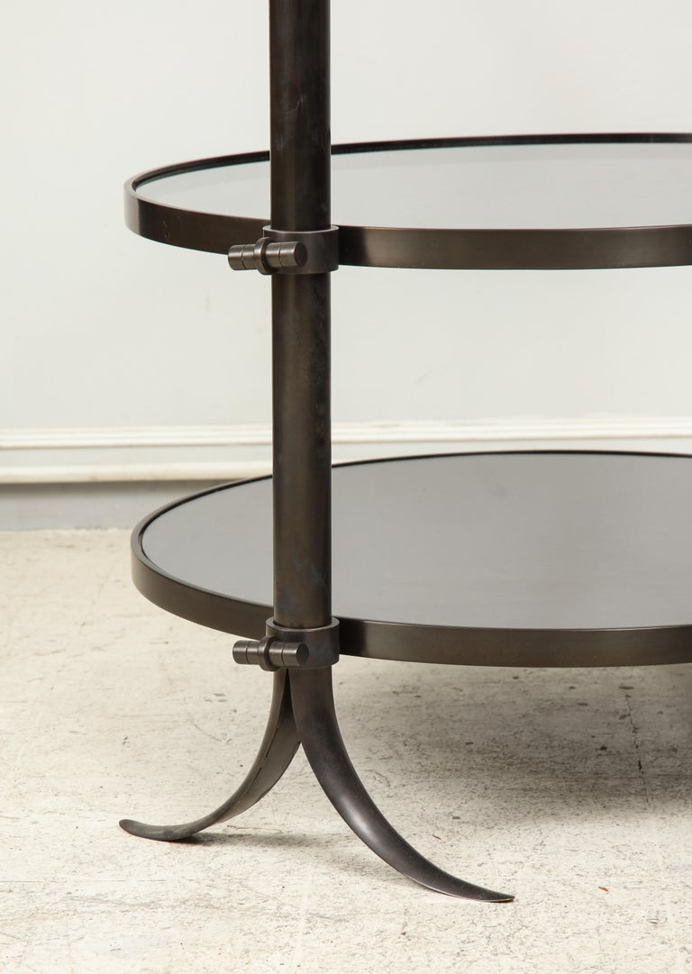 Pair of Bespoke Bronze Tulip Tables Designed by Amir Khamneipur In Excellent Condition For Sale In New York, NY