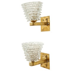 Pair of Bespoke Murano Glass Sconces