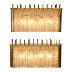 Pair of Bespoke Wall Lights Murano Glass on Brass Structure by Diego Mardegan