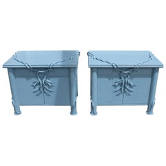 Pair of Betty Cobonpue Nightstands for Scultura Philippines, 1980s