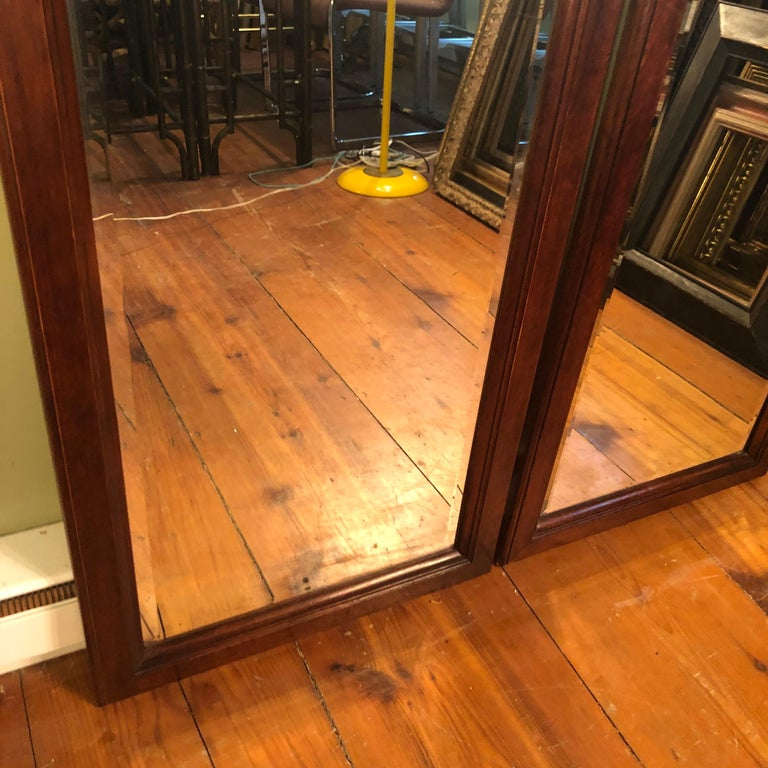 Pair of Beveled Arched Mirrors 14