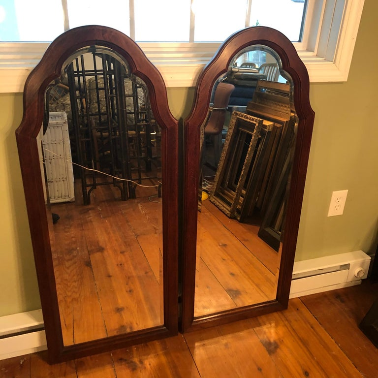 Pair of Beveled Arched Mirrors 15