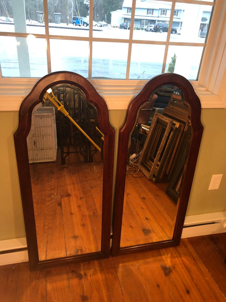Pair of Beveled Arched Mirrors In Good Condition In Redding, CT