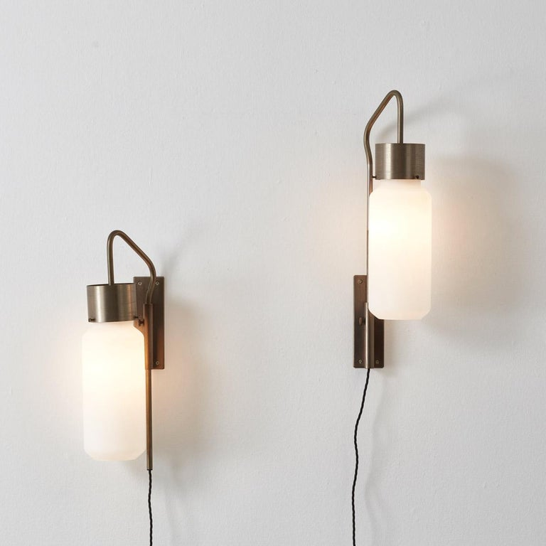 Pair of Bidone Wall Lights by Luigi Caccia Dominioni for Azucena, Italy In Good Condition In London, GB